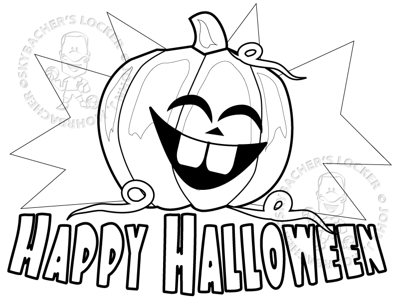 happy halloween coloring pages free   Free Happy Halloween Coloring Page   Skybacher's Locker