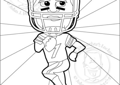 Antonio brown free coloring pages for Steelers football coloring pages