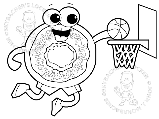 Dunking Donut – Free Coloring Page | Skybacher\'s Locker