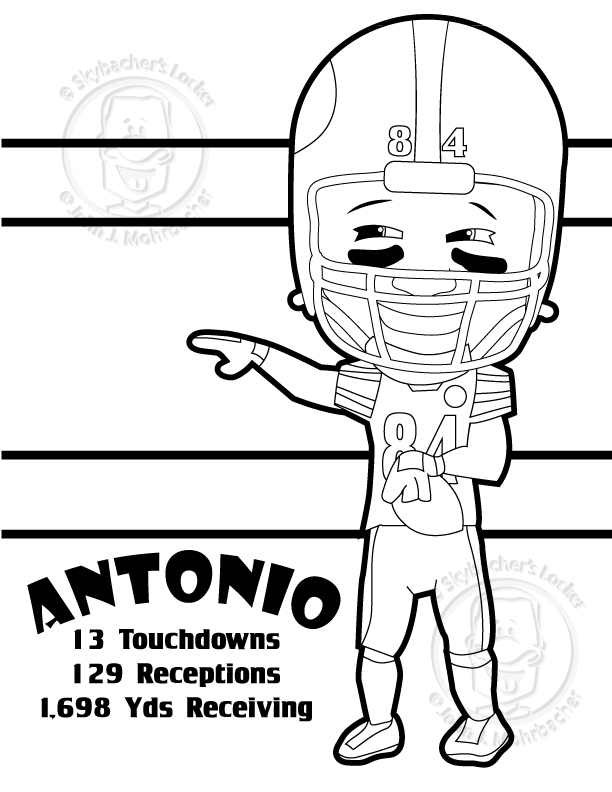 antonio brown ? steelers ? coloring page | skybacher's locker - Steelers Coloring Pages Printable