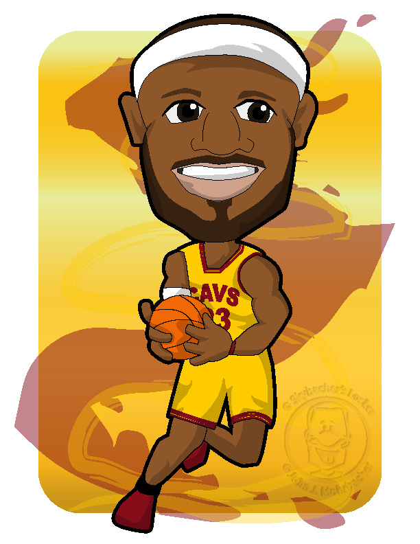 lebron james cartoon Colouring Pages page 3