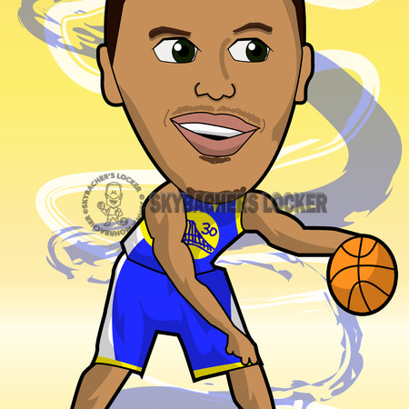 Steph Curry Warriors Cartoon - Skybacher's Locker
