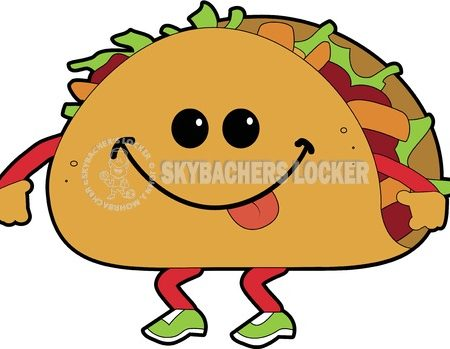 Walking Taco Cartoon - Skybacher's Locker