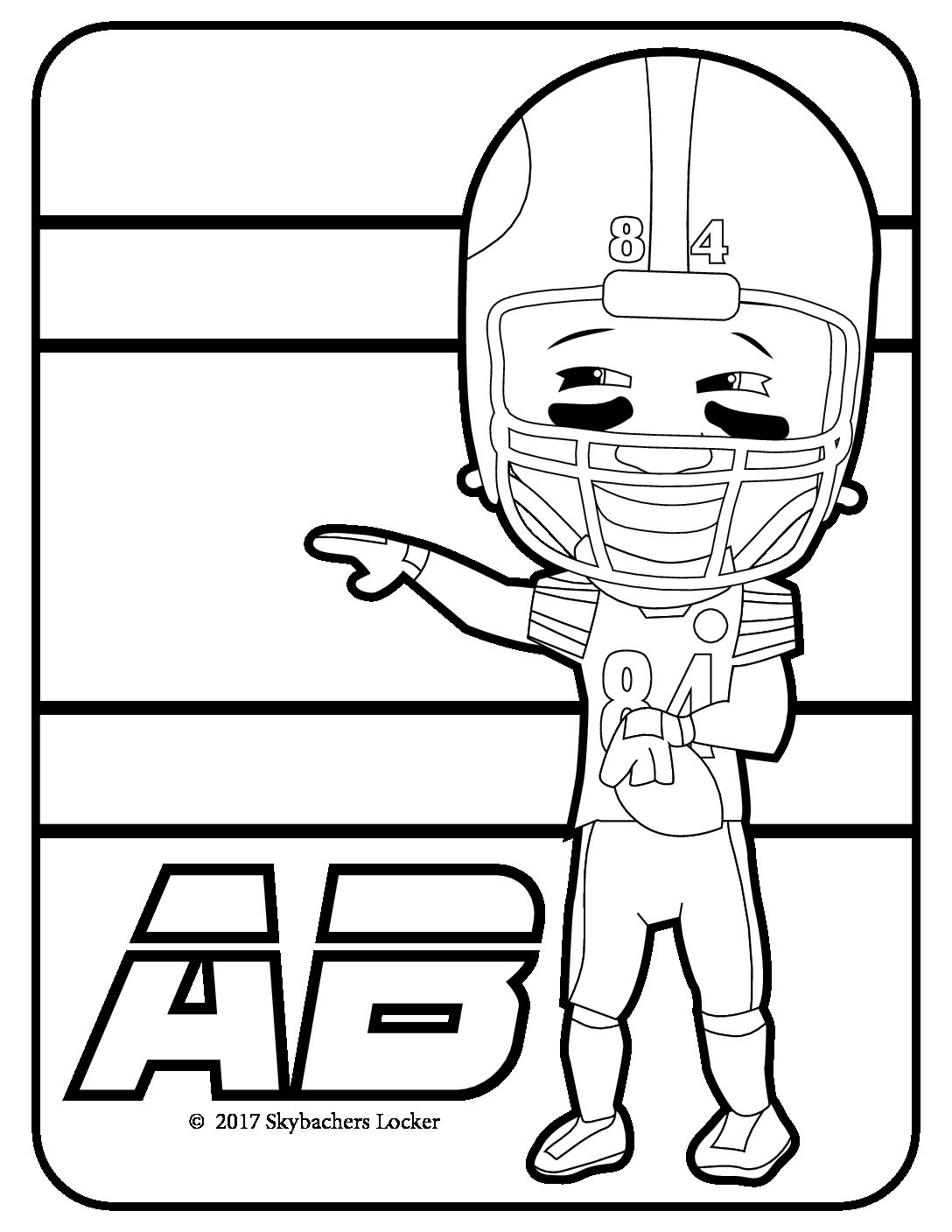 Free Steelers Coloring Pages for 2017 | Skybacher\'s Locker