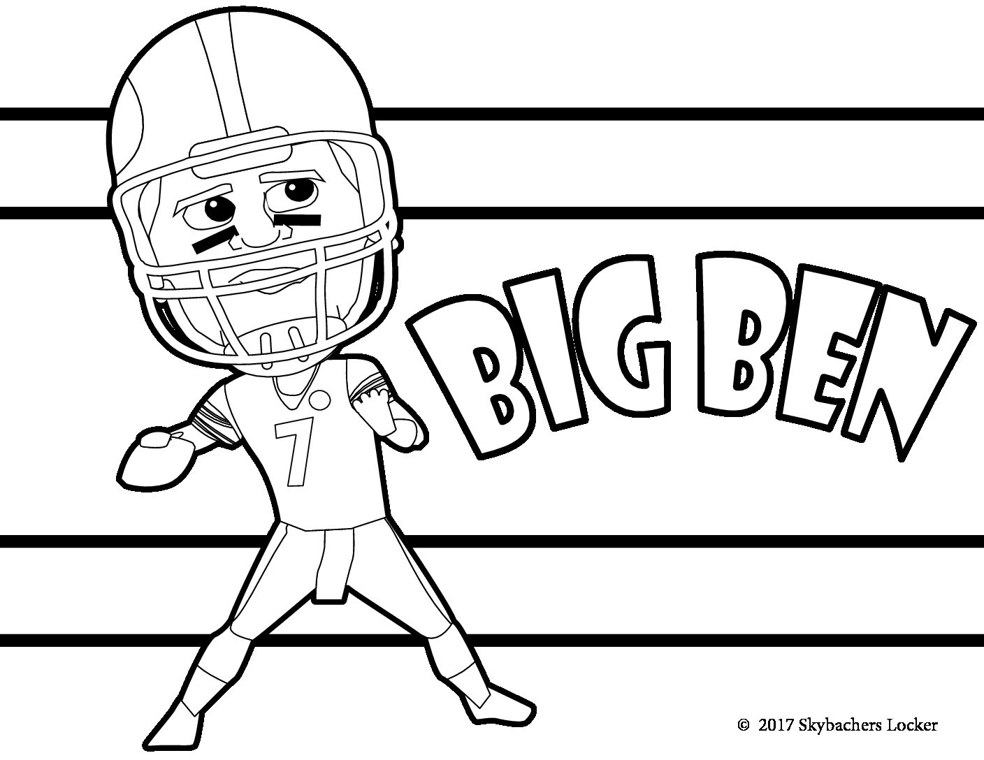 ben roethlisberger coloring page - Steelers Coloring Pages